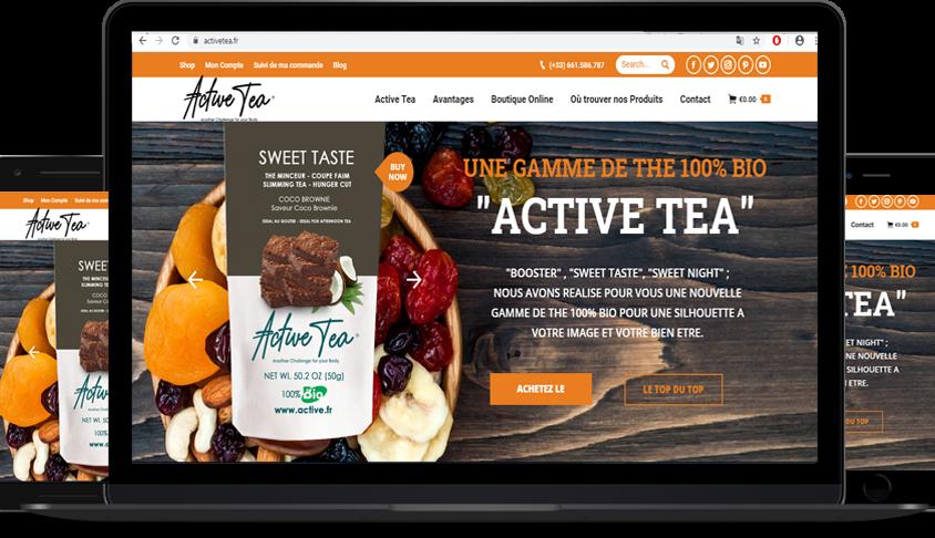 Active Tea, Website Eboutique